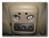 2000-2006 GM Chevrolet Tahoe Map Light Bulbs Replacement Guide