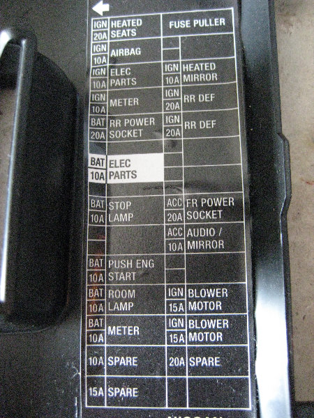 2012 nissan altima fuse box diagram 2012 nissan altima 2 5 fuse box rh hg4 co 2010 Altima 2007 Altima