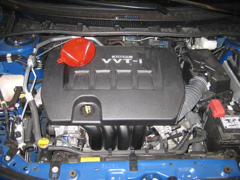 2009 2013 toyota corolla 2zr fe engine oil change guide 032 for Toyota corolla motor oil