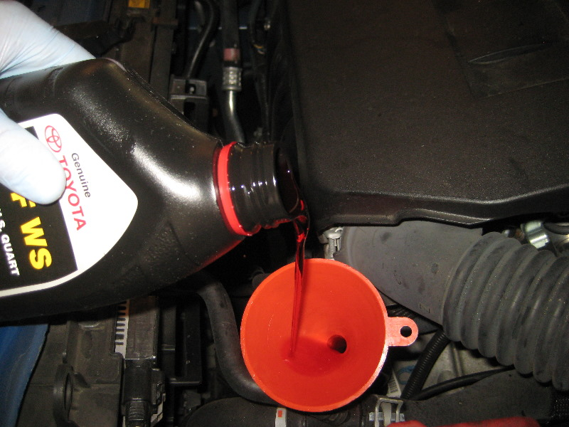 how to change transmission fluid 2010 toyota corolla