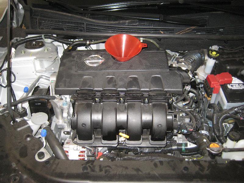 2013 2015 nissan sentra engine oil change filter for Nissan versa motor oil