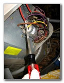 Discharge hvac capacitor