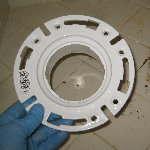 Broken Plastic Toilet Closet Flange Replacement Guide