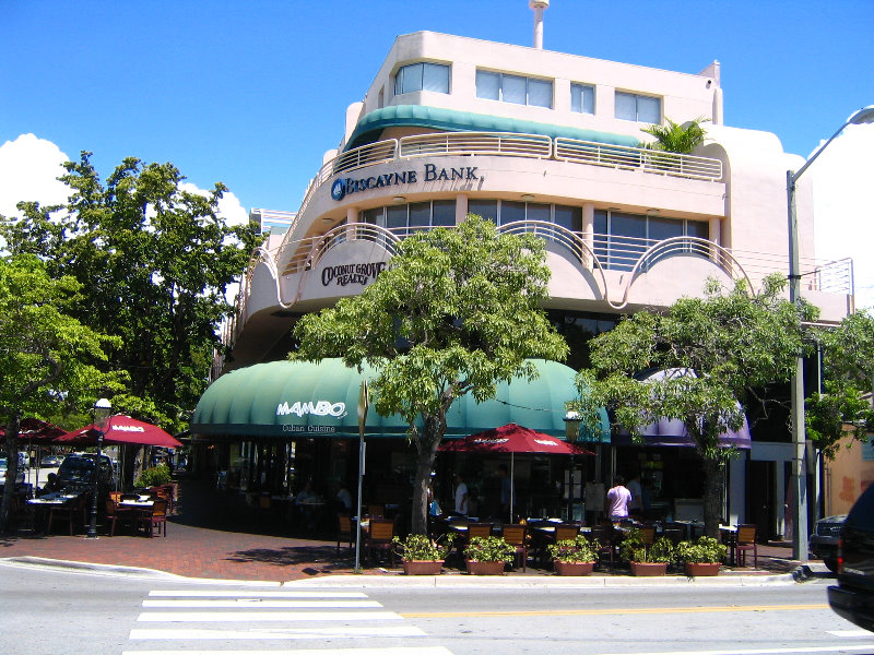 About Coconut Grove. Photo courtesy of iStock/Thinkstock. Many of the earliest arrivals to the area settled in the Coconut Grove region of Miami. Today the area boasts CocoWalk, a huge multilevel entertainment complex with shops, restaurants, and tons of nightlife.