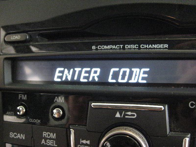 Radio Code Retrieval Honda Crv