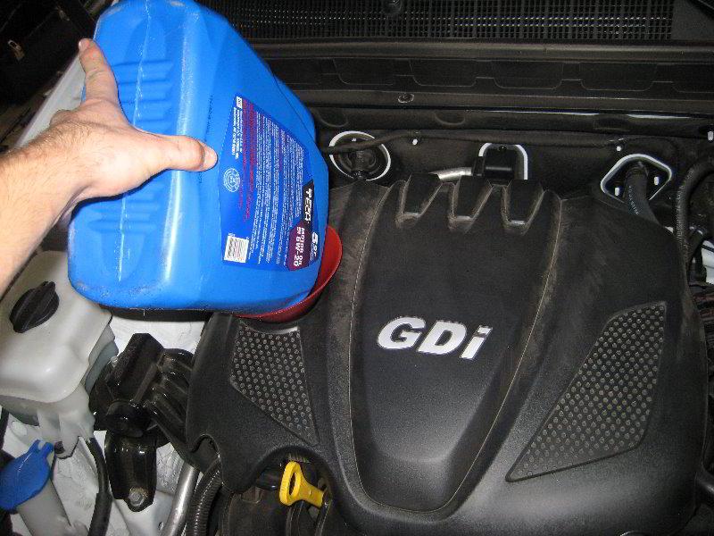 Kia Optima Theta Ii Gdi I4 Engine Oil Change Guide 020