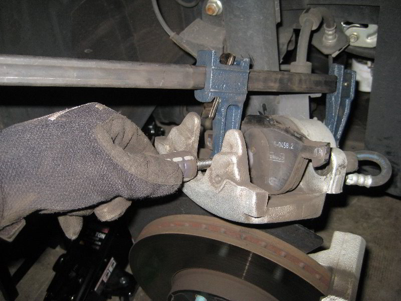 mazda mazda3 front brake pads replacement guide 028. Black Bedroom Furniture Sets. Home Design Ideas