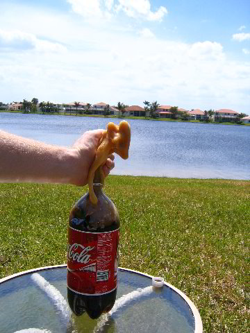 how to make a volcano with coke and mentos