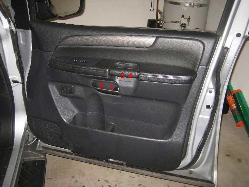 Nissan Armada Interior Door Panel Removal Guide 001
