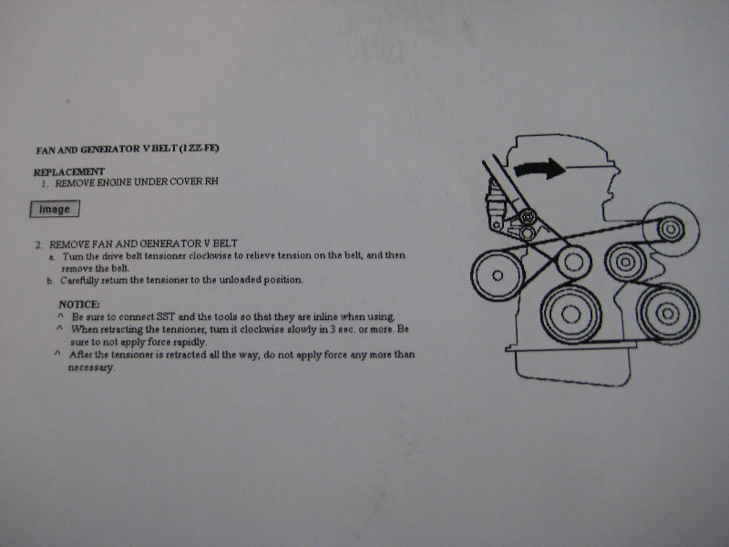 Toyota Corolla Serpentine Accessory Belt Replacement Guide