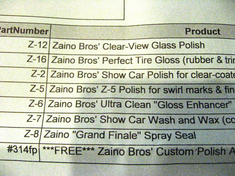 Zaino Show Car Polish Review